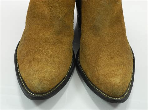 mens suede western boots olathe 10 b mens cowboy western boots brown suede leather