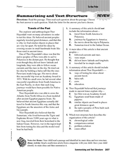 Text Structure Worksheets 5th Grade by Text Structure Worksheets 4th Grade Wiildcreative