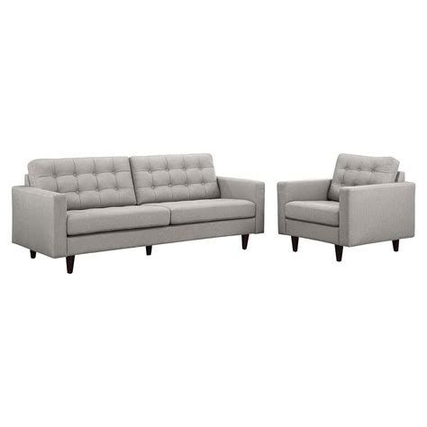 1111 Light Gray empress armchair and sofa tufted dcg stores