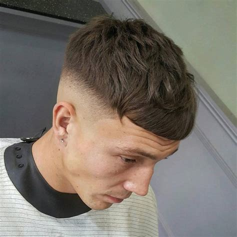 low fade with bangs caesar fade haircut haircuts models ideas