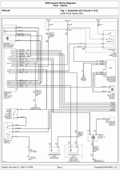 pdf ebook 2000 ford taurus system wiring diagrams