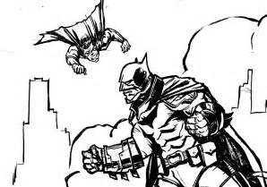 superman batman coloring pages cooloring