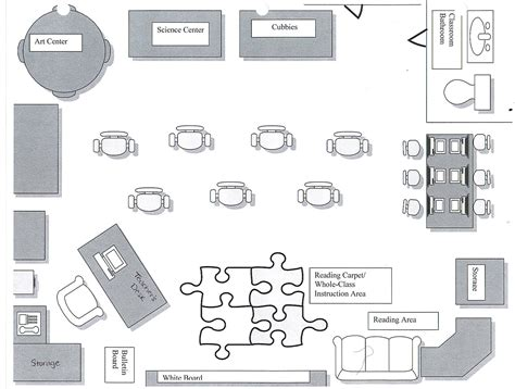 floor plan of a preschool classroom erin professional portfolio ideal classroom floor