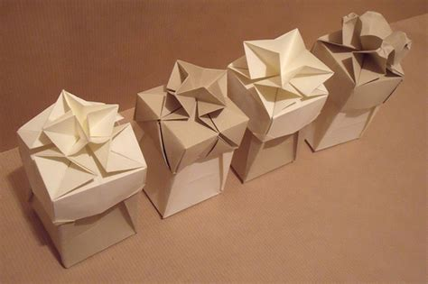 Origami Present Wrapping - origami boxes flickr photo