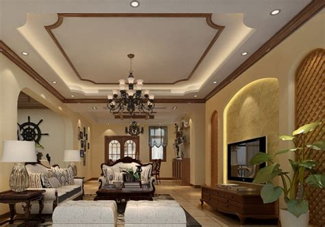 american room american style indoor living room tv wall design
