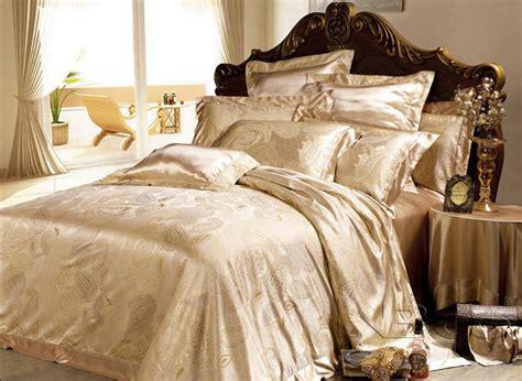silk comforters from china china 6pcs set yarn dyed jacquard silk bedding set 811