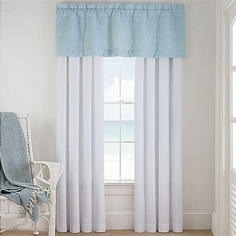 Coastal Window Curtains Coastal Luxe Sonoma Window Curtain Panels And Valance Bed Bath Beyond