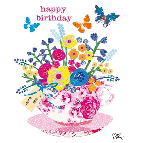 Happy Birthday Cards With Flowers Happy Birthday On Pinterest Happy Birthday Birthday