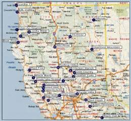 map of california with cities california cities map free large images