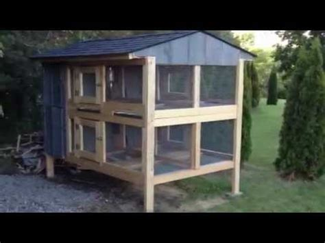 Rabbit Hutch Designs Free Canadian Rabbit Hutch 4hole Part Two Youtube