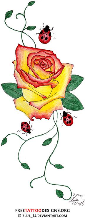 rose and ladybug tattoo 50 tattoos meaning