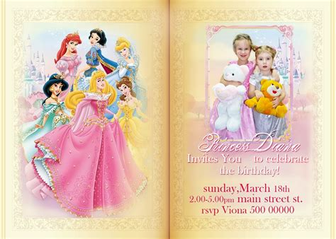 free disney princess invitation templates free printable invitation all disney princess free