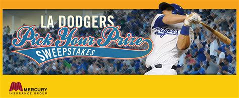 Los Angeles Sweepstakes - los angeles dodgers pick your prize sweepstakes rules los angeles dodgers