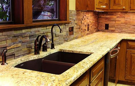 stacked stone kitchen backsplash stacked stone backsplash for kitchens texas custom