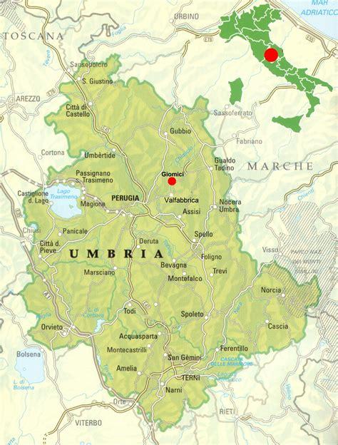 dell umbria mappa dell umbria italia siteredevelopment