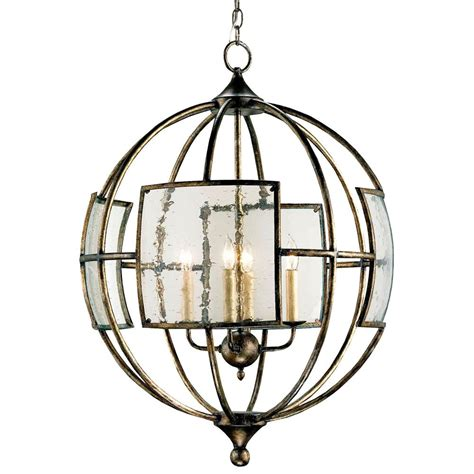 Glass Lantern Pendant Light Broxton Seeded Glass 4 Light Orb Pendant Lantern Kathy Kuo Home