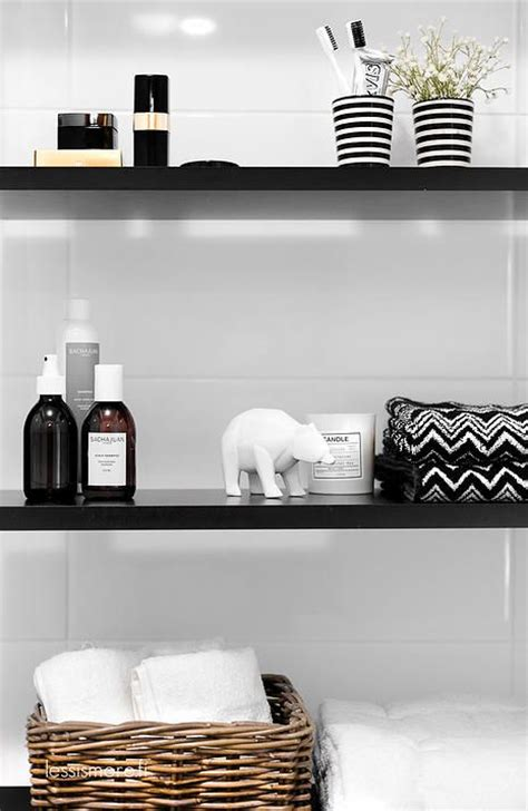 bathroom styling ideas inspired by chanel and black white the house of grace