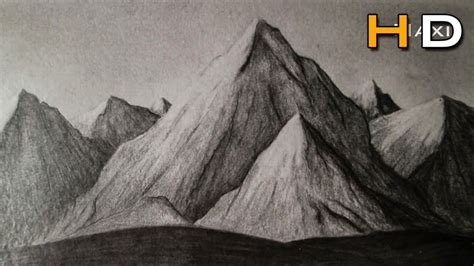 Sketches Mountains by Pencil Drawing Mountains Drawing Pencil