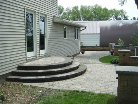 patio step design ideas paver front steps entry leading