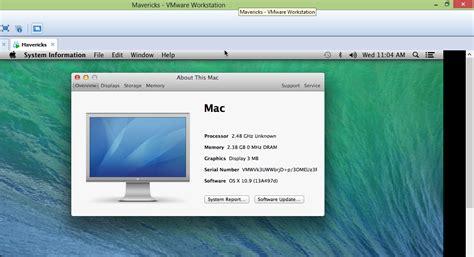 how to run windows on mac os 10 how to use os x 10 9 mavericks vmware image in windows 8