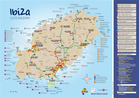 san jose map ibiza map of ibiza beaches from official turism site of ibiza