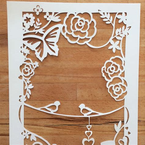 wedding papercut template wedding annerversary papercut template svg cutting file