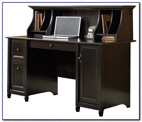 black desk with hutch sauder computer desk hutch desk home design ideas