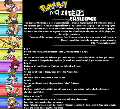 nuzlock challenge the nuzlocke challenge 2 by feralfury013 on deviantart