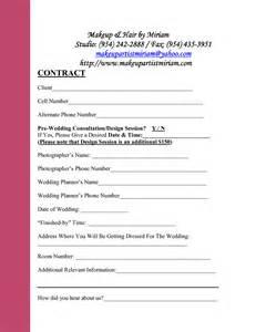 Consultation Contract Template by Bridal Makeup Consultation Form Mugeek Vidalondon