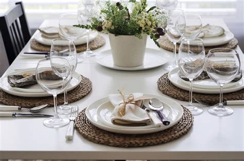 dining table setup 44 fancy table setting ideas for dinner parties and holidays