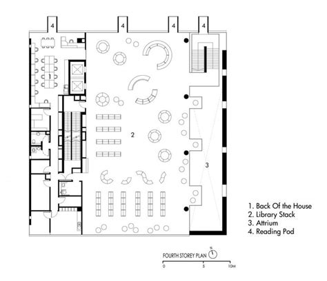 public floor plans bishan public library look architects singapore
