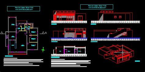 Imprimer Format Dwg | plan maison bois plain pied fichier dwg complet maison d