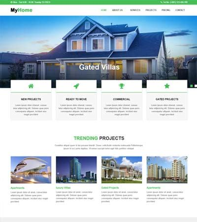 real estate website templates free webthemez