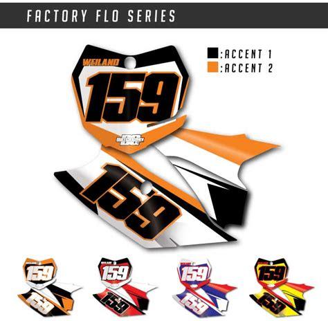 Ktm Number Plates Ktm Factory Flo Number Plate Graphics Bikegraphix