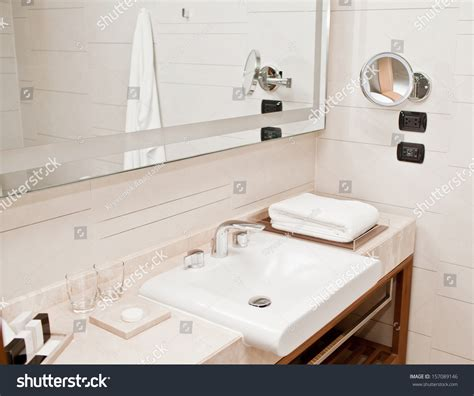 How To Clean A Hotel Bathroom by Clean Hotel Bathroom Sink Faucet Stock Photo 157089146