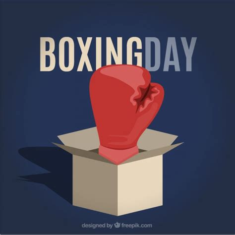 boxing day illustration vector free download