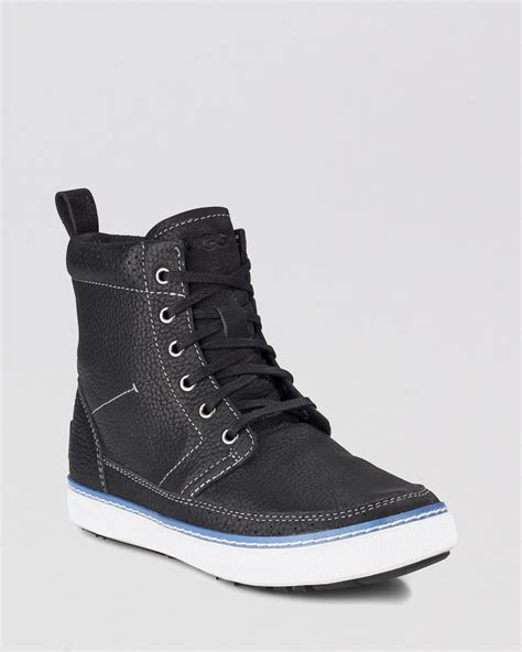 cold weather sneakers ugg lace up cold weather sneakers garrin bootie in black