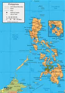 Arrow showing the position of camiguin island in the philippine map