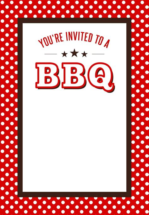 bbq invitation templates 17 best images about bbq on free printable