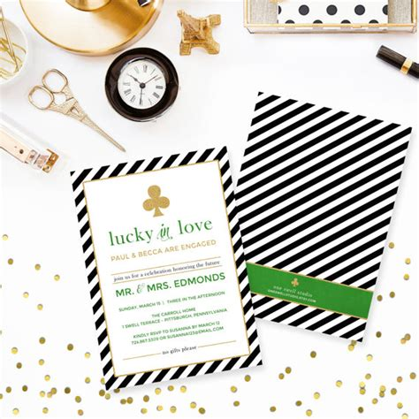 kate spade baby shower invitations kate spade inspired quot lucky in quot printable engagement