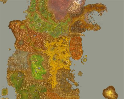 wow map world of warcraft map kalimdor