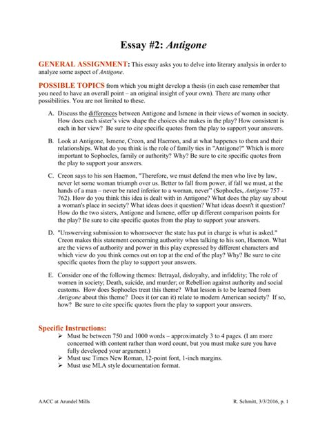 Antigone Analysis Essay by Essay On Antigone And Ismene Docoments Ojazlink