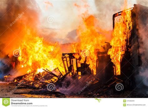 this burning house burning house stock photo image 57545344