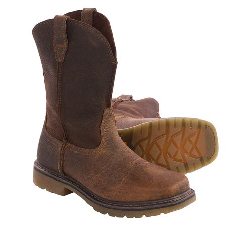 ariat rambler pull on leather work boots for 105gj