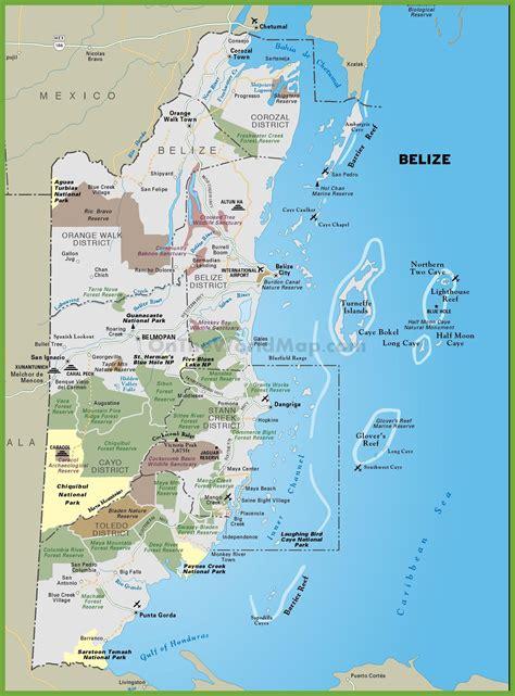 tourist map of belize tourist map of belize