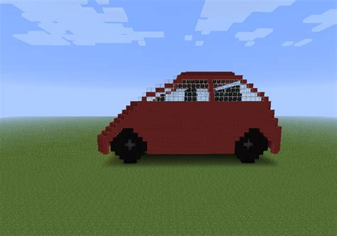 minecraft car red car minecraft project