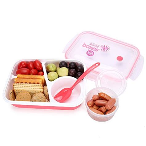 Yooyee Lunch Box 3 bento box lunch box 3 compartment 1 bowl 4 in 1 1 spoon