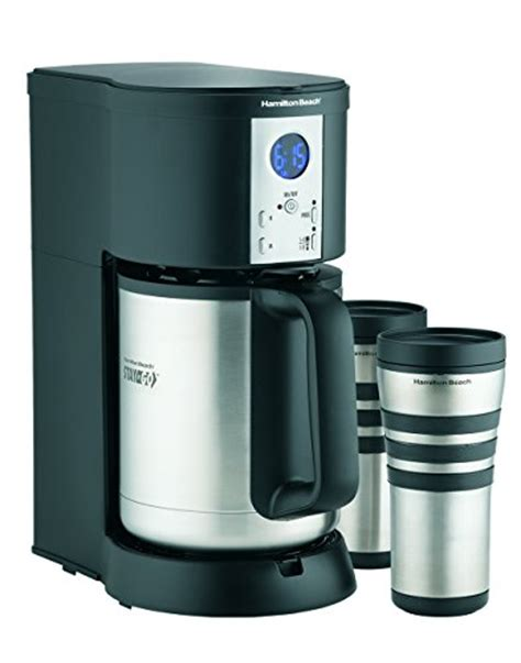 Hamilton Beach Coffee Maker, Stay or Go Digital with Thermal Insulated Carafe (45237R)   Gourmet