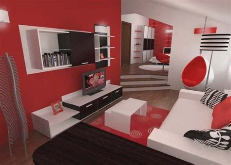 black white red bedroom inspiring contemporary bedroom in red black and white