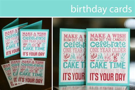 make birthday cards for free printable free printable birthday printable decor